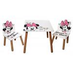 Dětský stůl s židlemi Minnie Mouse