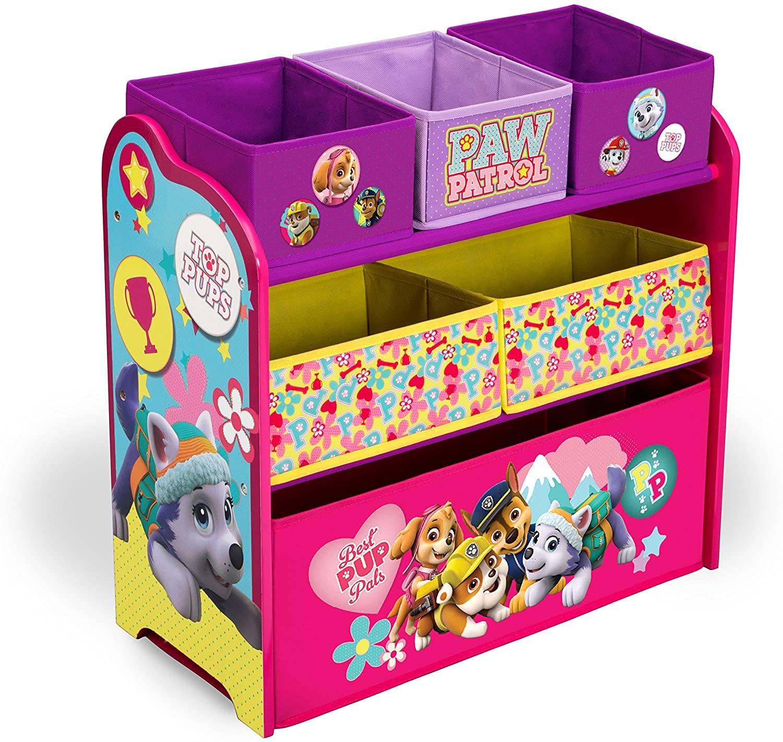 Organizér na hračky Paw Patrol Skye - růžový