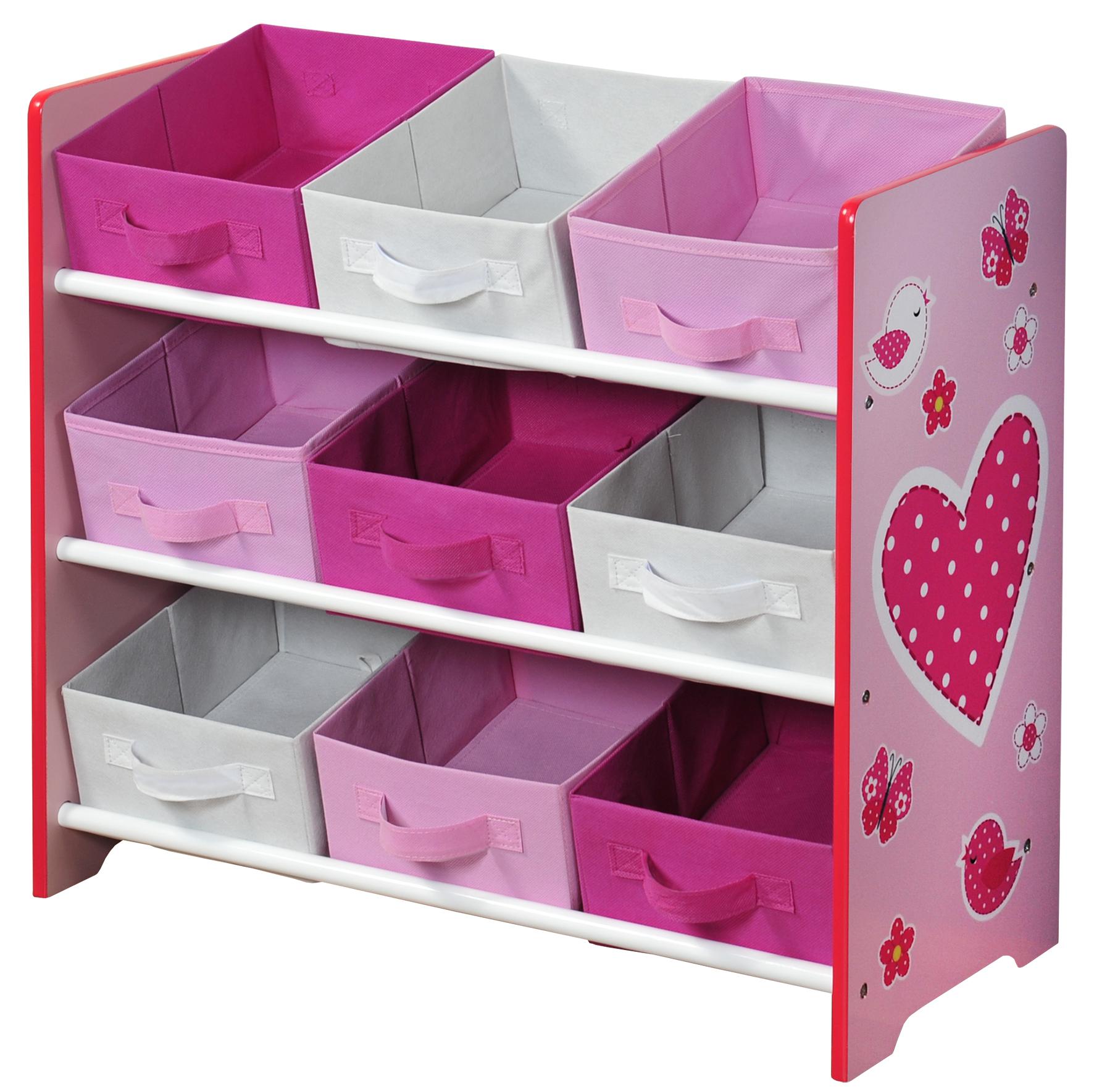 Organizer na hračky růžový
