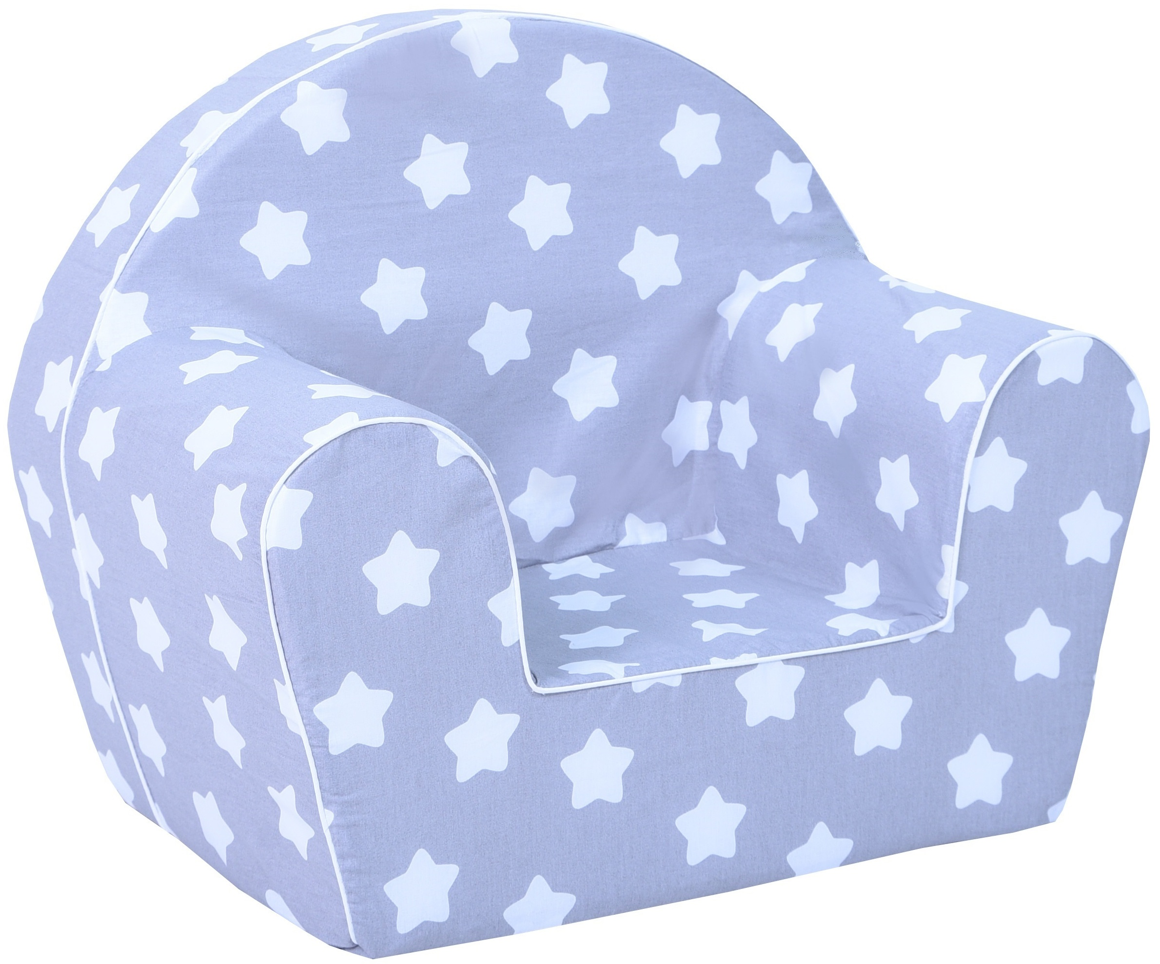 Dětské křesílko hvězdy - šedé
