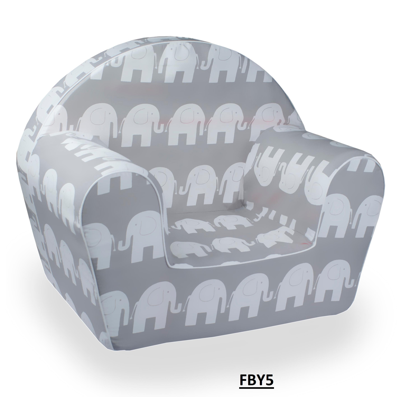 Dětské křesílko sloni - šedé