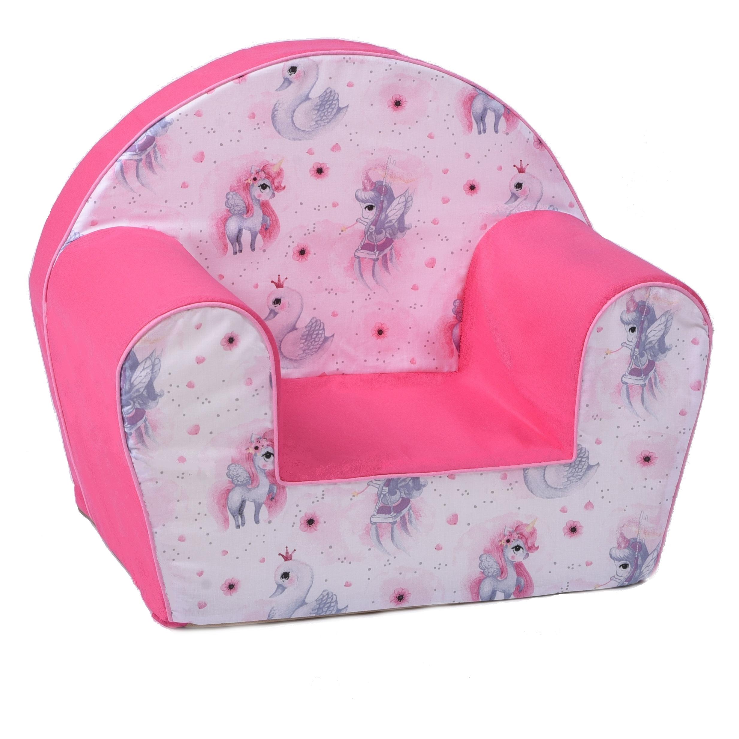Dětské křesílko jednorožec - růžové
