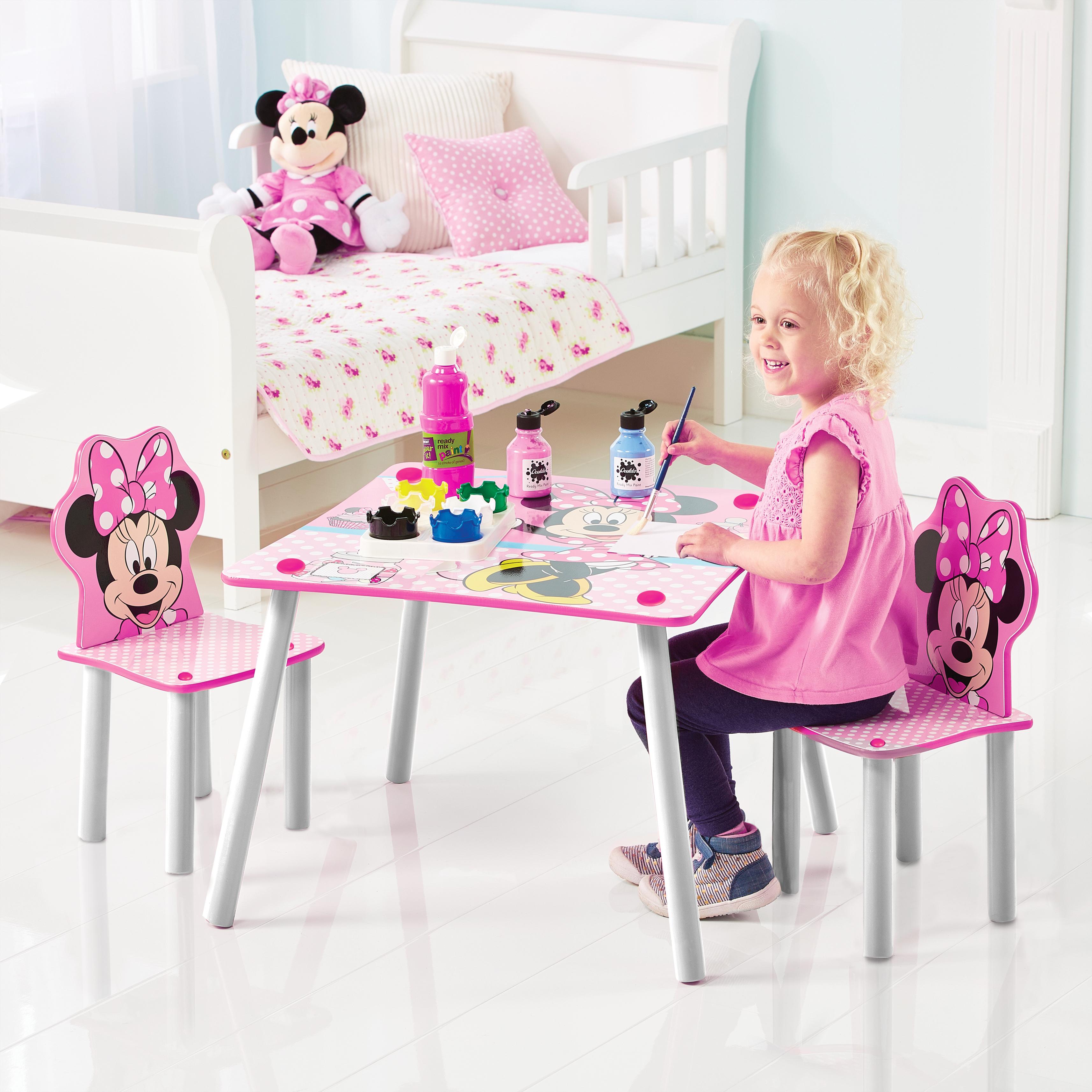 Dětský stůl s židlemi Myška Minnie