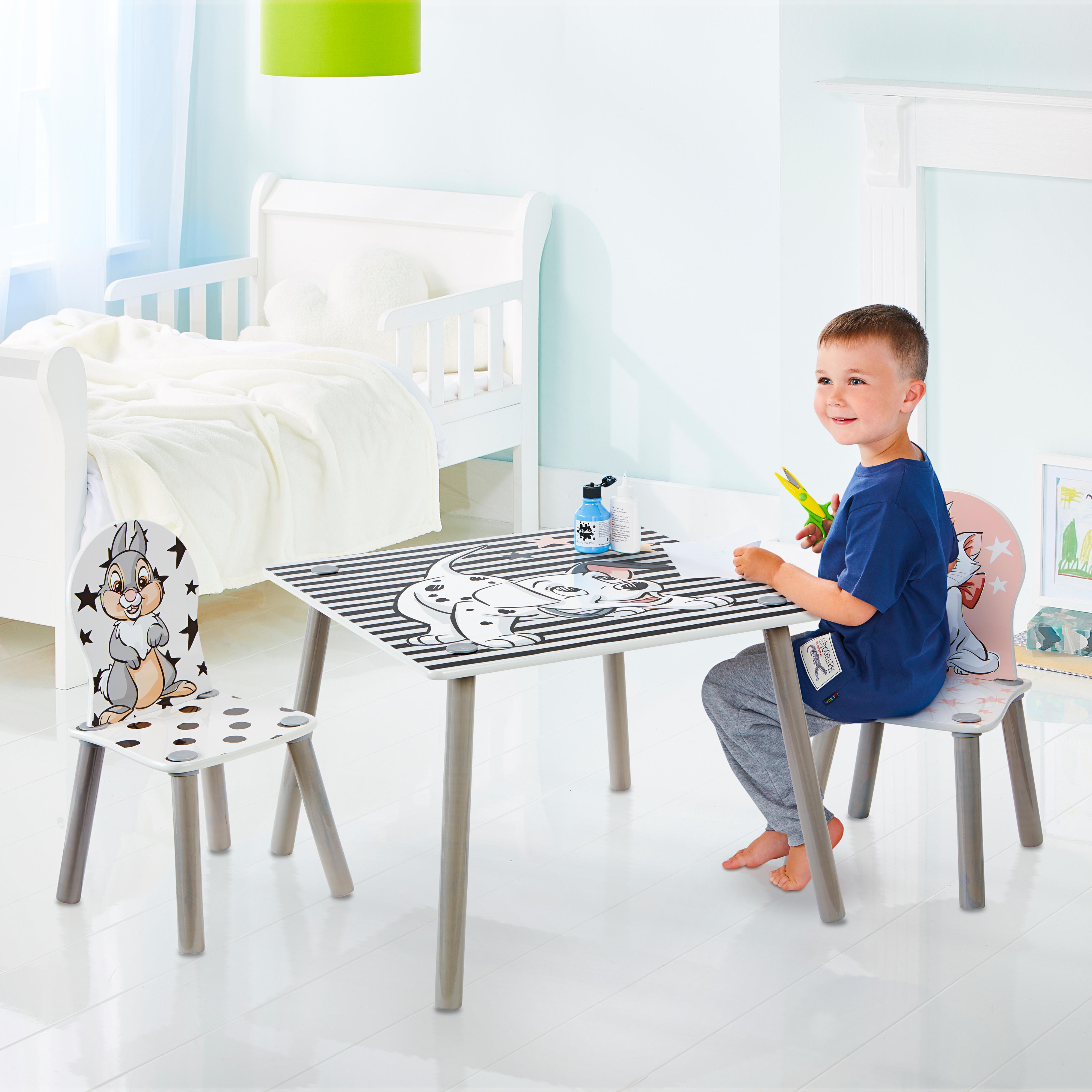 Dětský stůl s židlemi 101 dalmatinů
