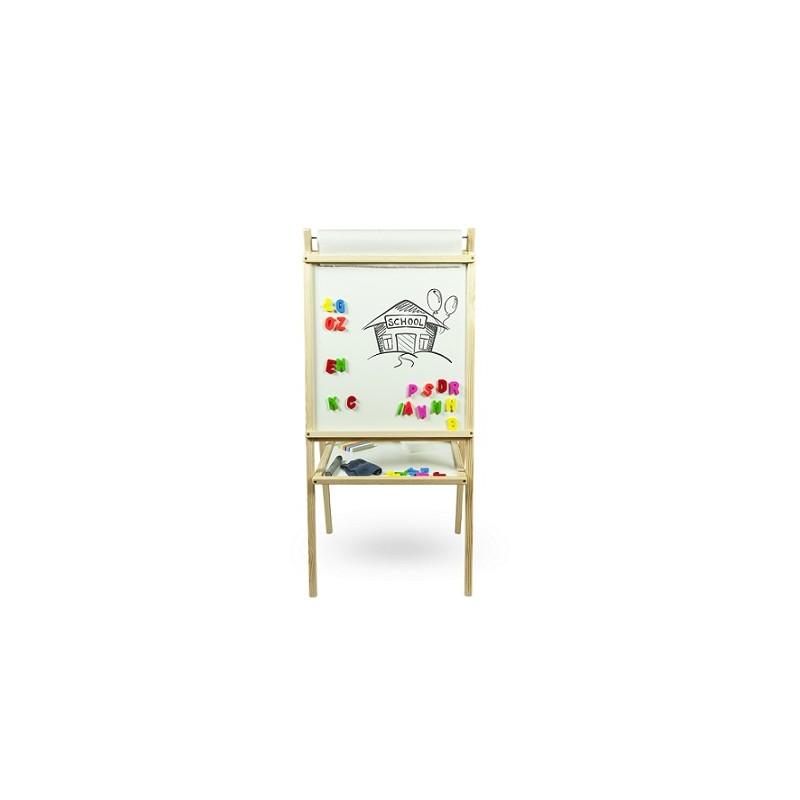 Dětská magnetická tabule 3v1 přírodní
