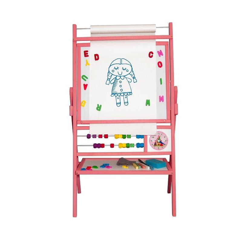 Dětská magnetická tabule růžová