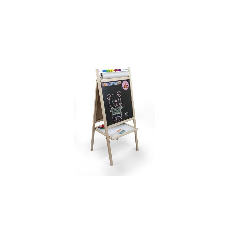 Dětská magnetická tabule přírodní s hodinami