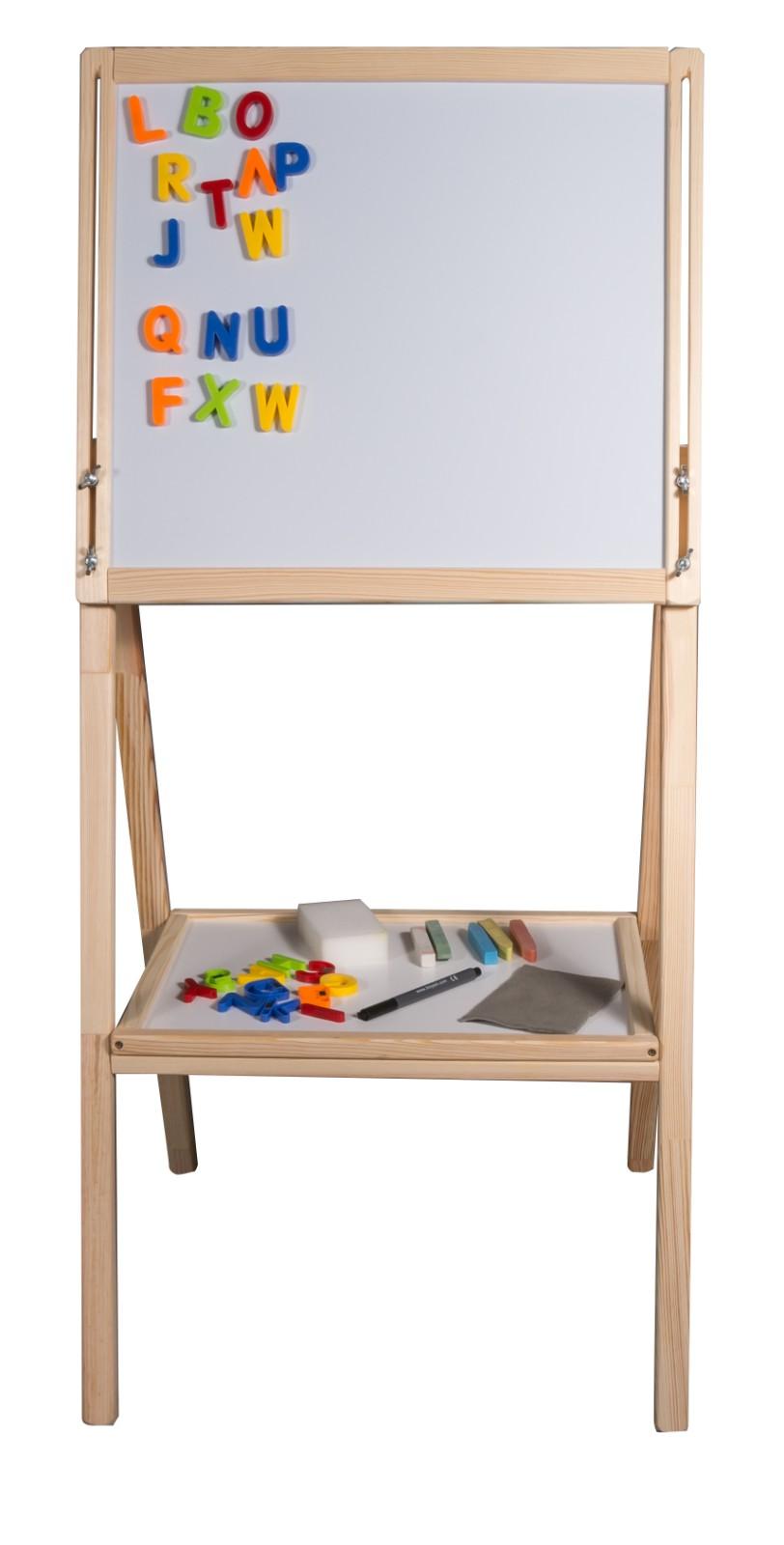 Dětská oboustranná magnetická tabule přírodní