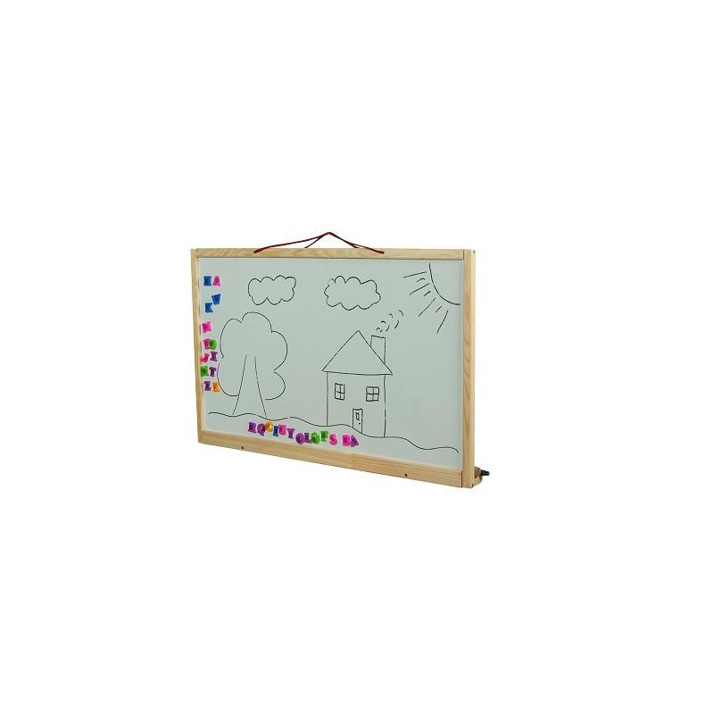 Dětská tabule na zeď oboustranná přírodní