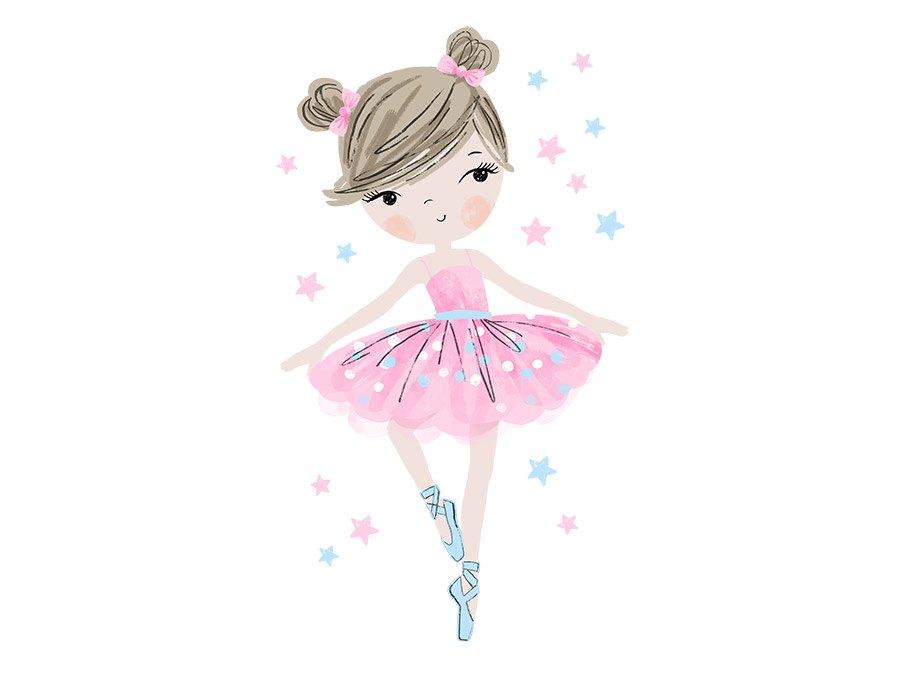 Samolepka na zed Baletka - růžová