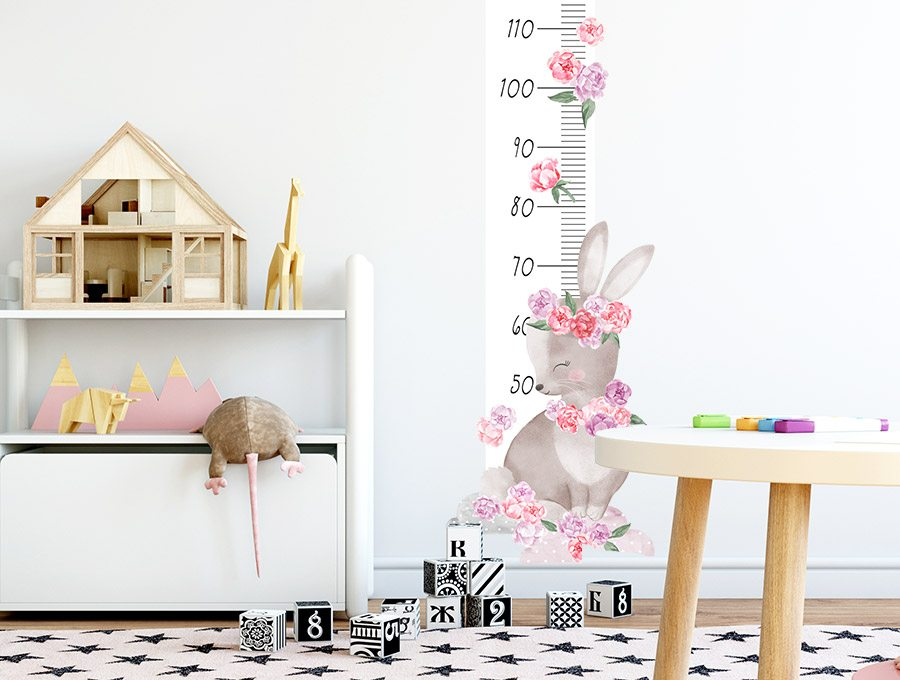 Měřítko vzrůstu králíček - růžový