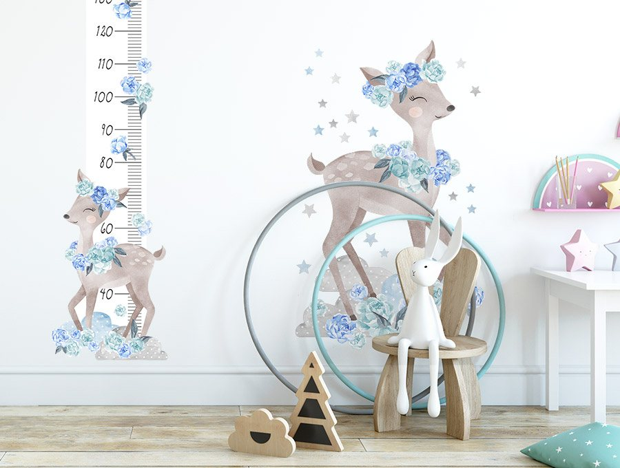 Měřítko vzrůstu srnka - modrá