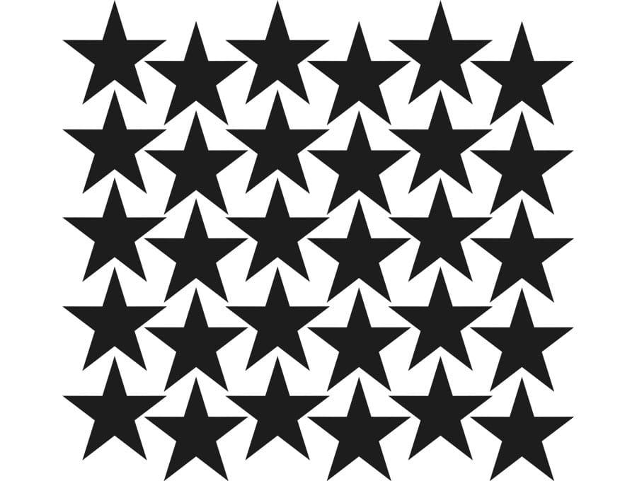 Samolepky na stěnu hvězdičky - černá