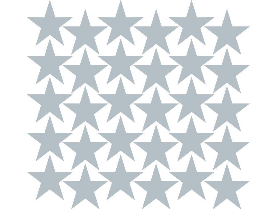 Samolepky na stěnu hvězdičky - šedá