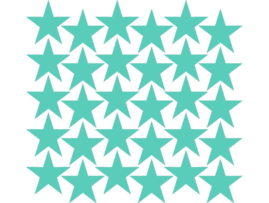 Samolepky na stěnu hvězdičky - mátová