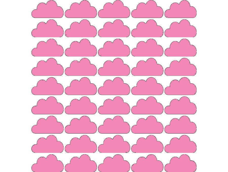 Samolepky na stěnu mráčky - růžová