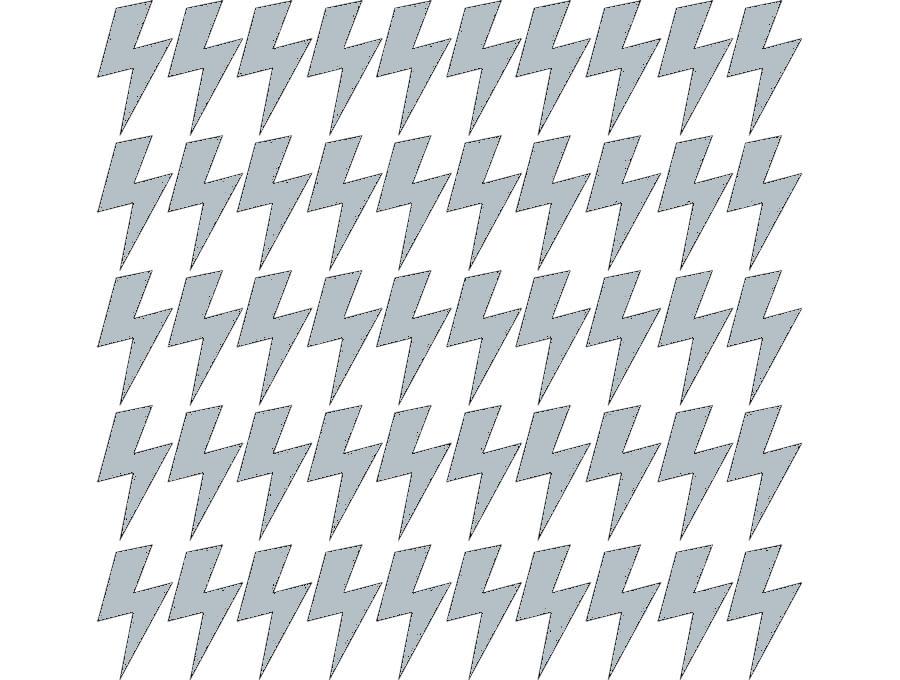 Samolepky na stěnu blesk - šedá
