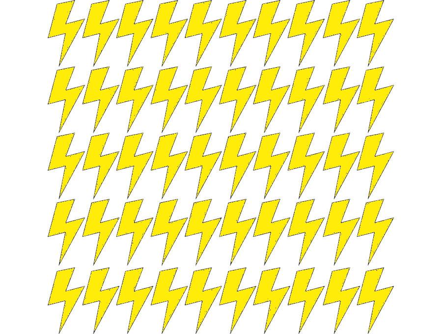 Samolepky na stěnu blesk - citrónová