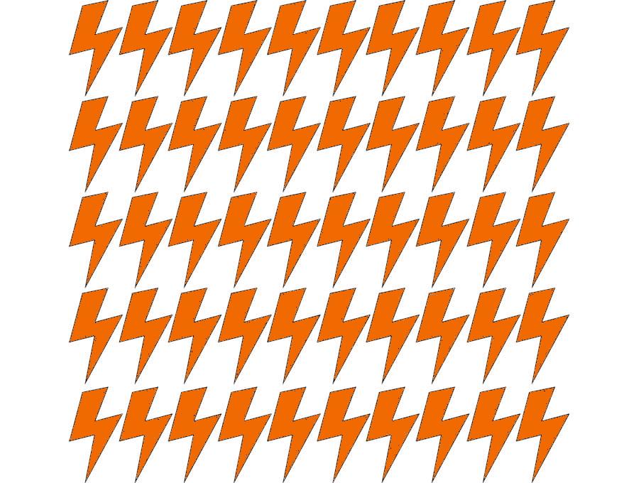 Samolepky na stěnu blesk - pomerančová