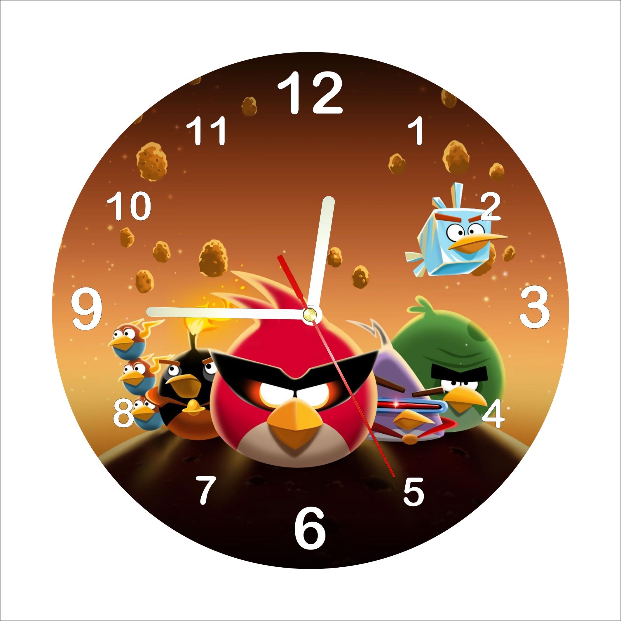 Dětské hodiny Angry Birds