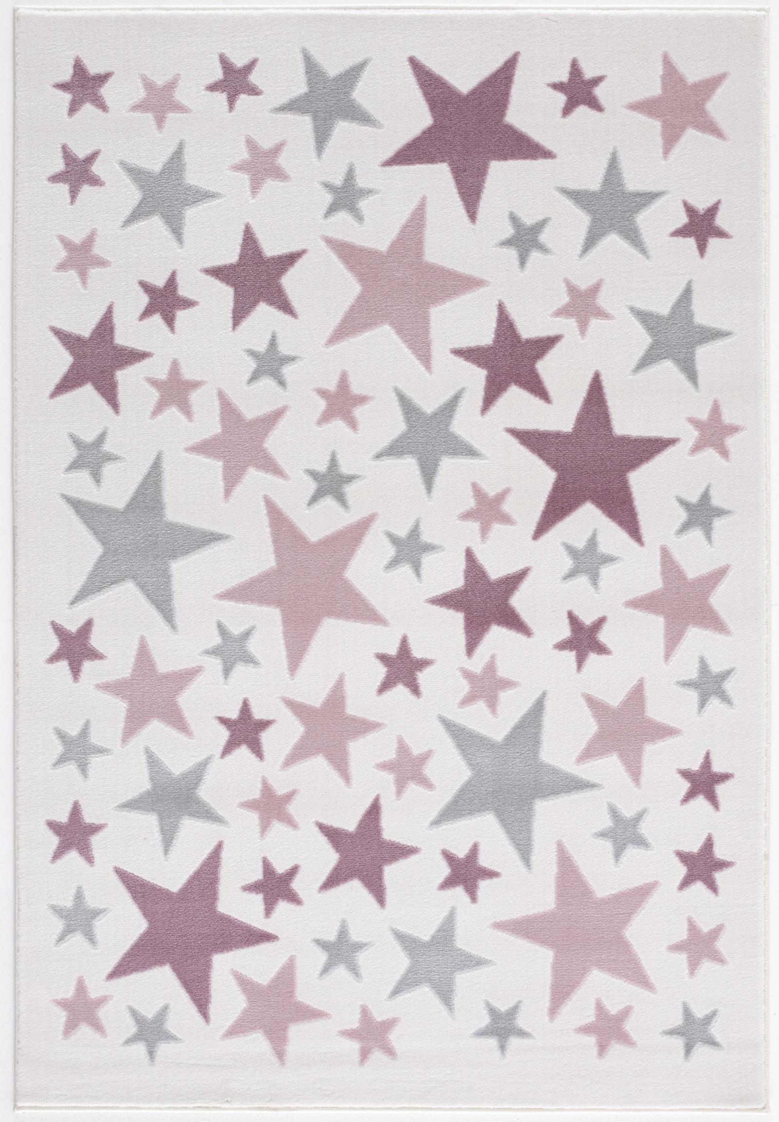 Dětský koberec Stella - krémová/růžová 120x180 cm