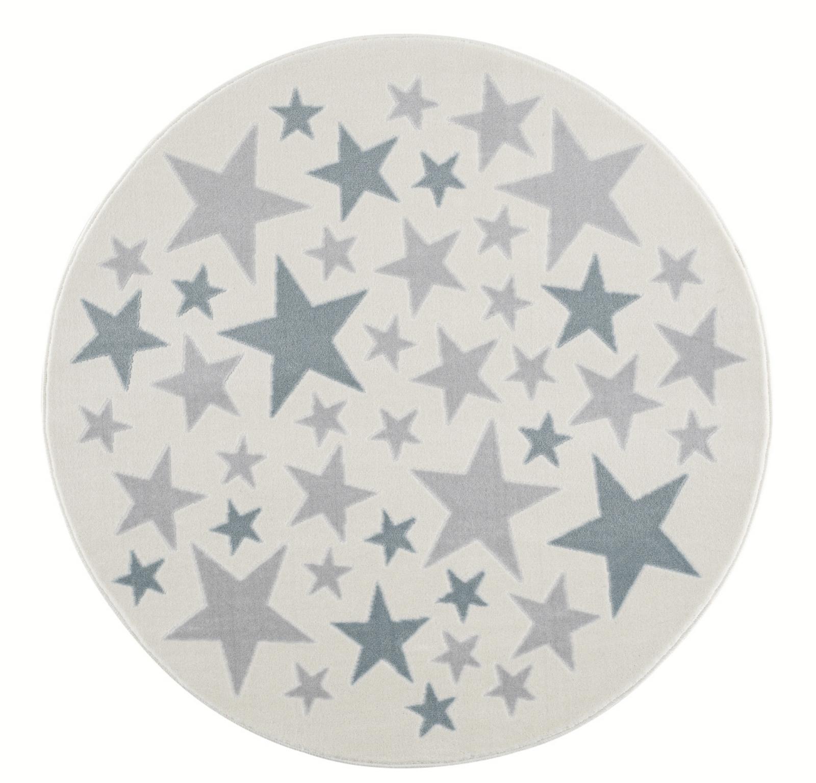 Dětský koberec Stella - krémová/modrá 133cm