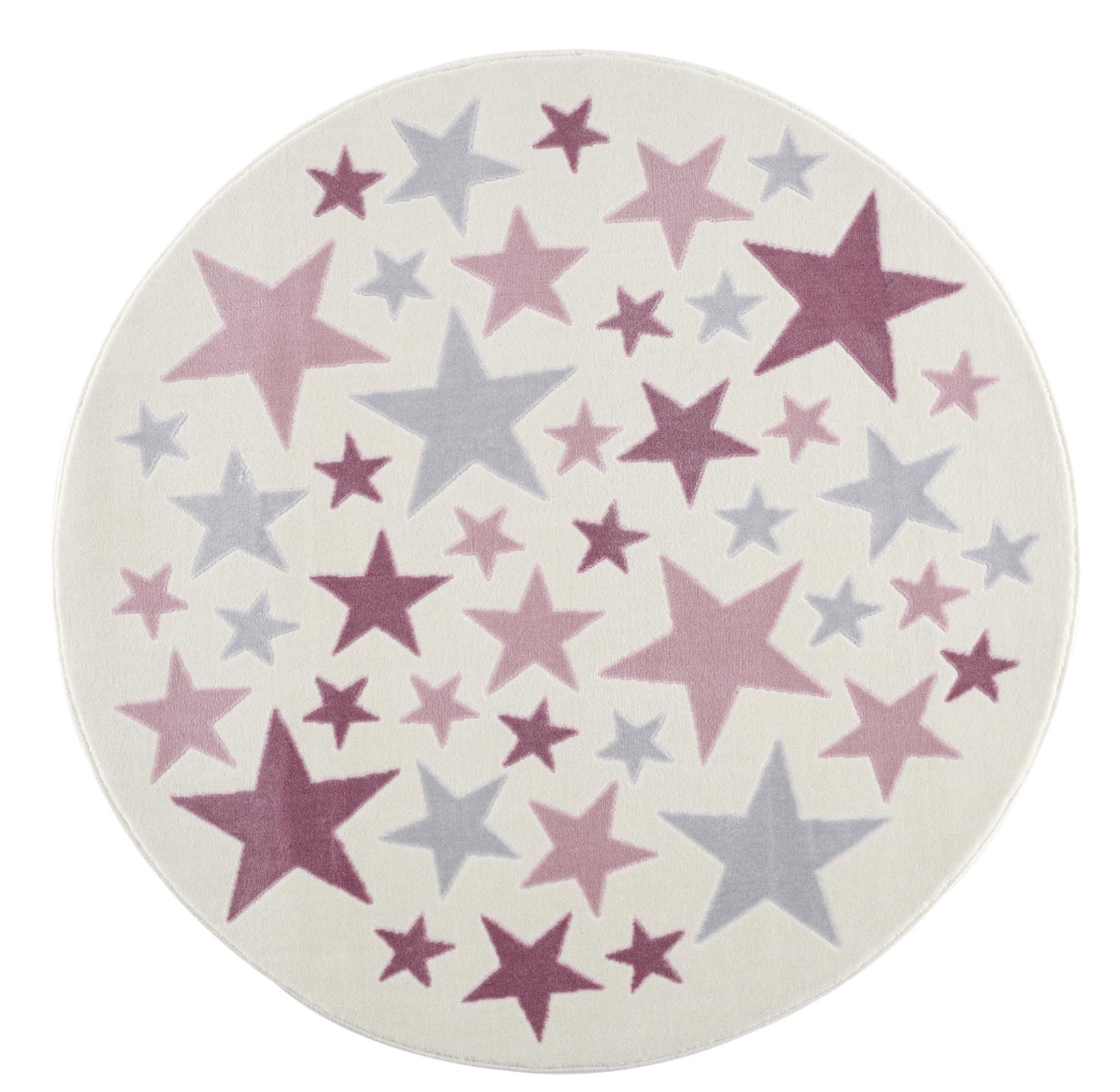 Dětský koberec Stella - krémová/růžová 133cm