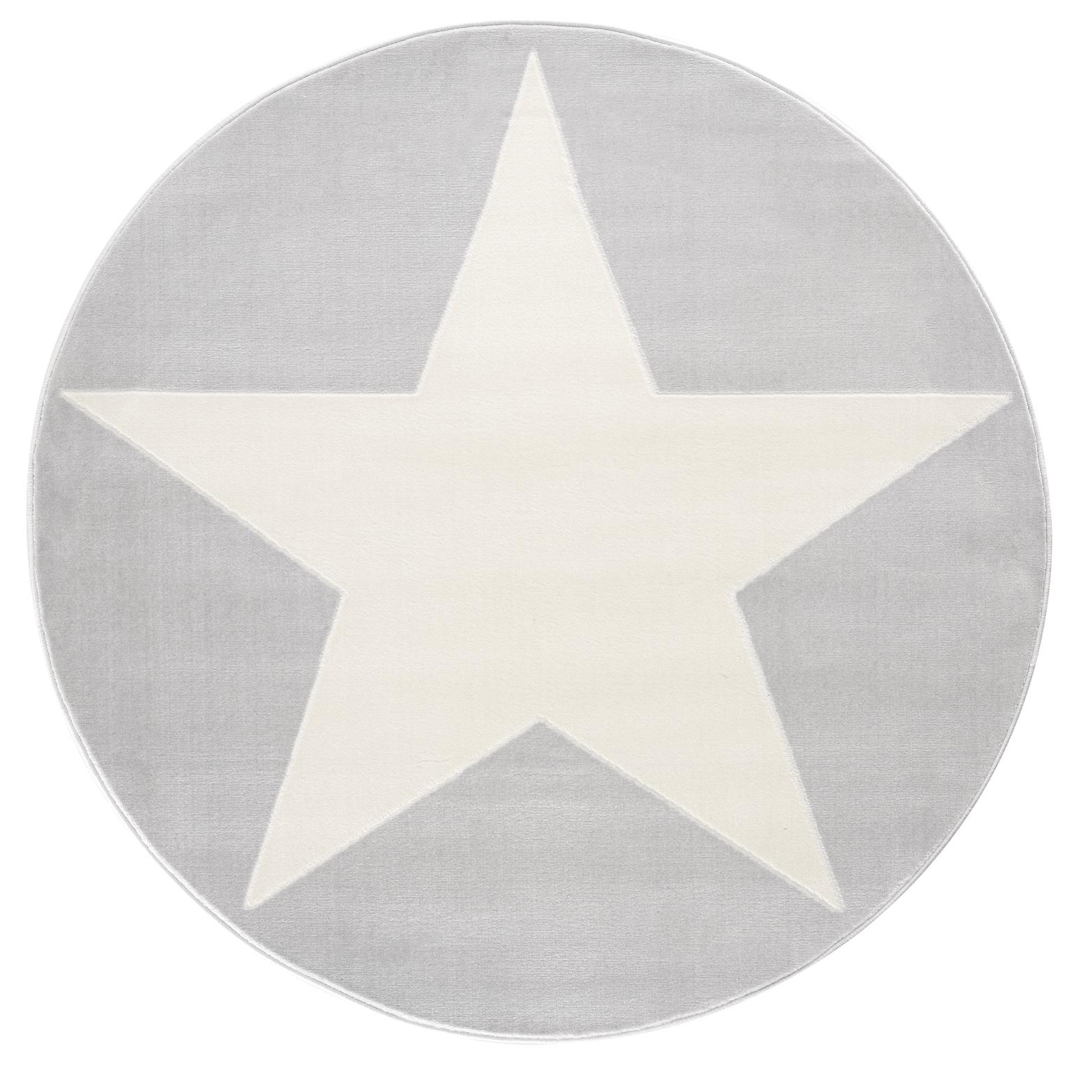 Dětský koberec hvězda - šedá/bílá 160cm