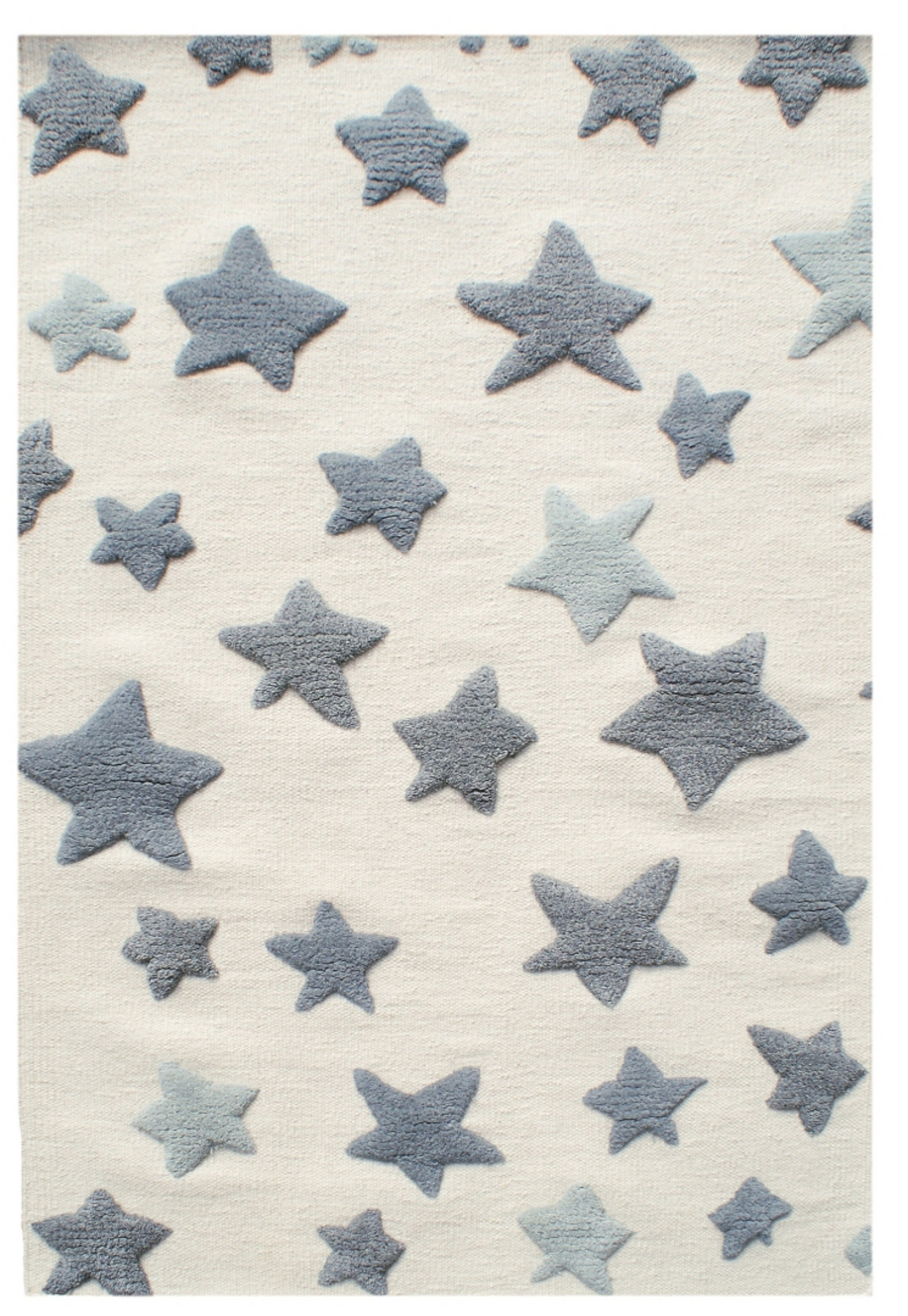 Dětský vlněný koberec hvězdy - natural/šedá 120x180cm