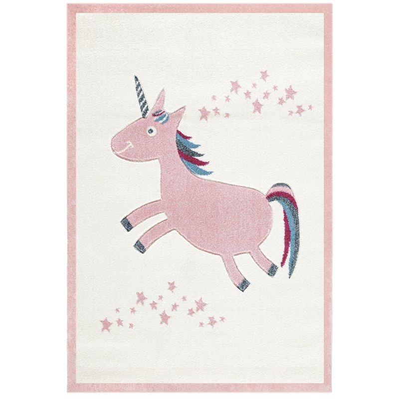 Dětský  koberec Jednorožec - růžový 120x180 cm