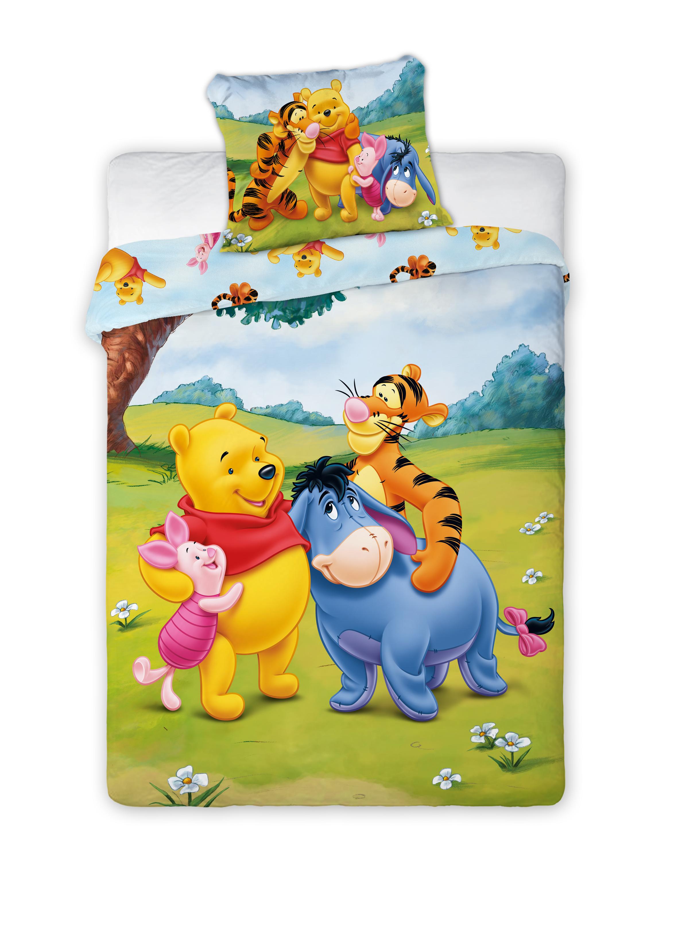 Dětské povlečení Medvídek PÚ a kamarádi 135x100 cm