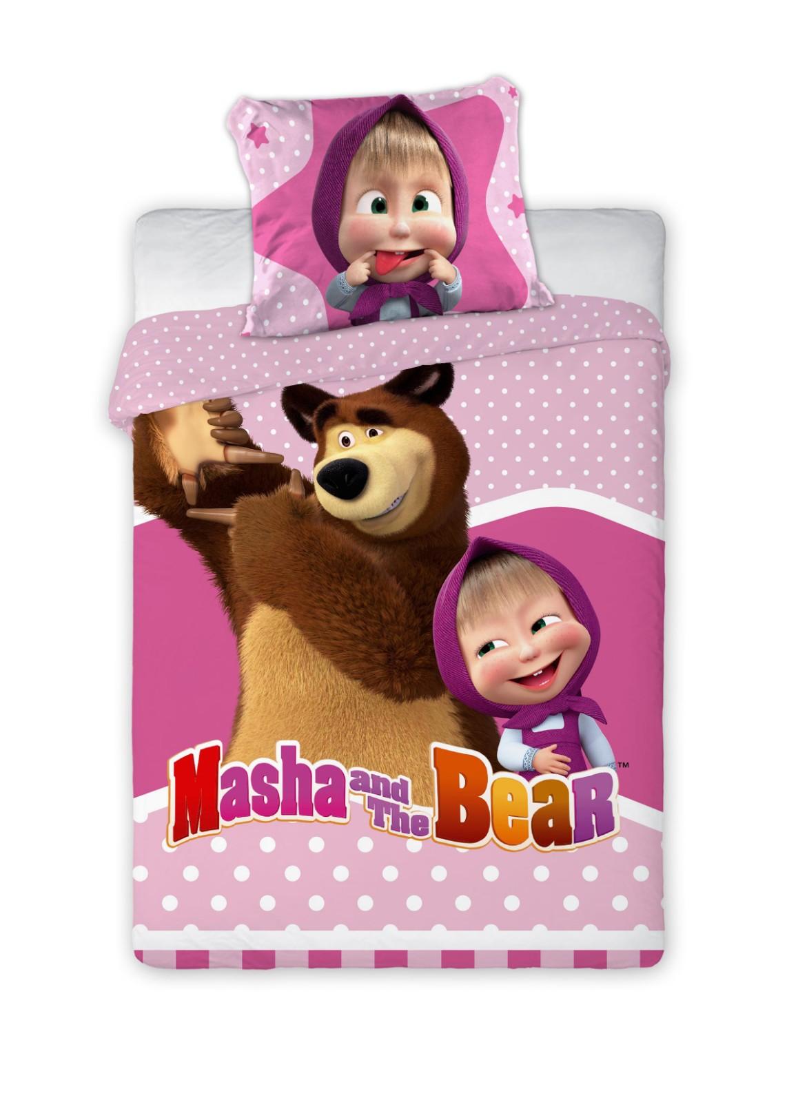 Dětské povlečení Máša a Medvěd 135x100 cm