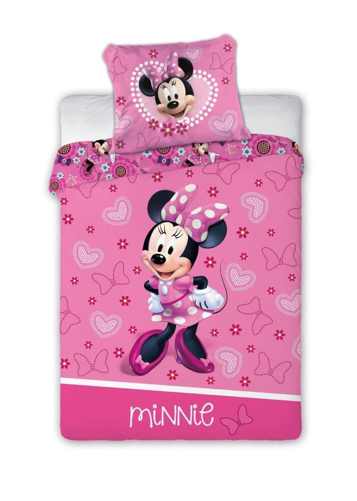 Dětské povlečení Myška Minnie se srdíčky 135x100 cm