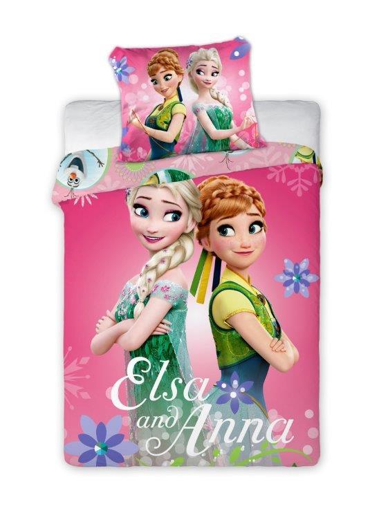 Dětské povlečení Anna a Elsa 135x100 cm