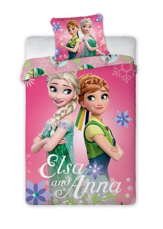 Dětské povlečení Anna a Elsa 140x200 cm