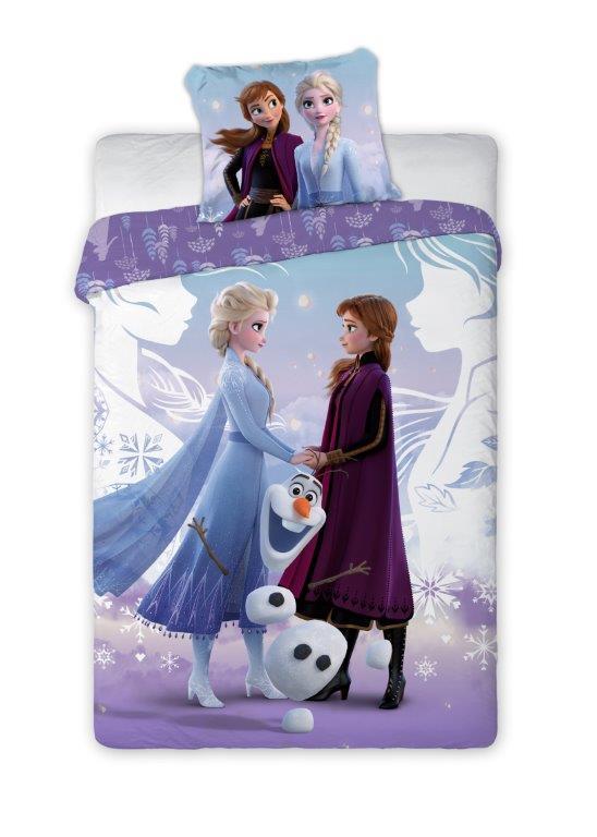 Dětské povlečení Anna, Elsa a Olaf 140x200 cm