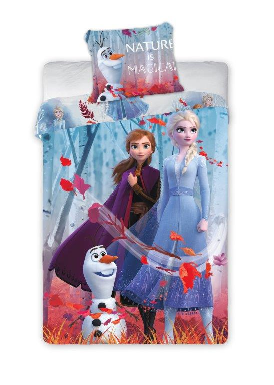 Dětské povlečení Frozen - Nature is Magical 140x200 cm